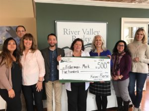 RIVER VALLEY REALTY PRESENTS FISHERMAN'S MARK WITH $500 DONATION